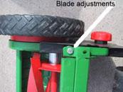 blade adjustments